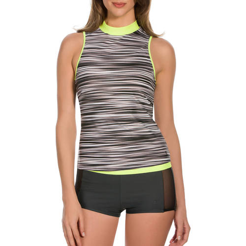 Image of Danskin Now Women;s Sporty Tank Swimsuit Top; Swim Bottom You Choose Value Bundle