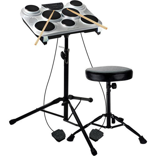 Spectrum Seven-Pad Digital Drums with Drum Stand by Ashley Entertainment