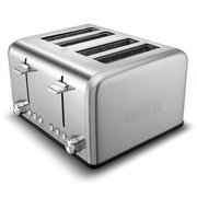 Cusimax Bakery Toaster 4 Slice Extra Wide Slot Toaster Stainless Steel Bagel Bread Toaster -CMST-160S