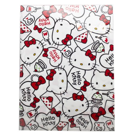 Sanrio's Hello Kitty Red/White Heart Themed Snap Button Envelope for $<!---->