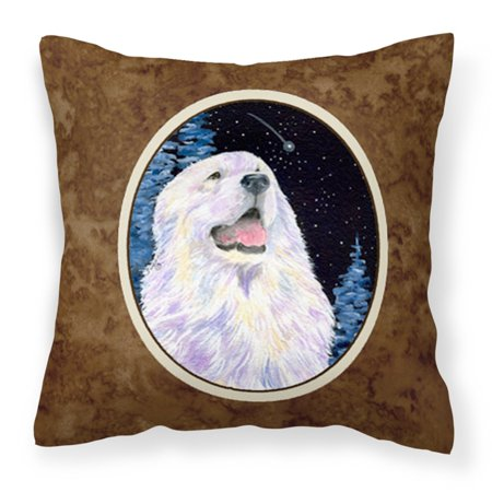 Carolines Treasures Starry Night Great Pyrenees Canvas Outdoor Pillow