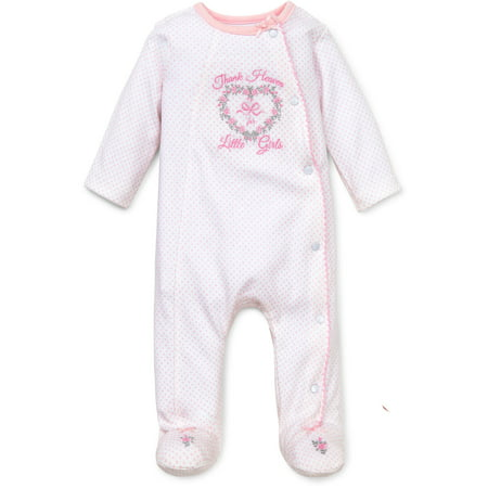 cc4544ac6 LTM BABY - Thank Heaven For Little Girls Snap Front Footie Pajamas ...