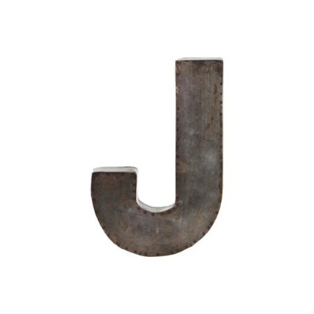 Galvanized bronze metal alphabet j wall decor letter for Al ahram aluminium decoration