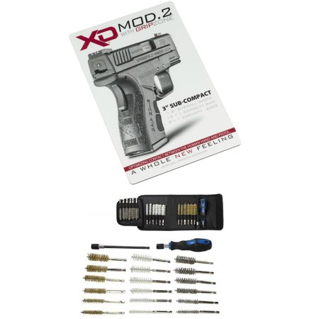 Springfield Armory XD Vertical Gunsmith Counter Bench Gun Mat + Ultimate  Arms Gear Deluxe 21pc Cleaning Tube Chamber Barrel Kit + Hex Shaft  Extension