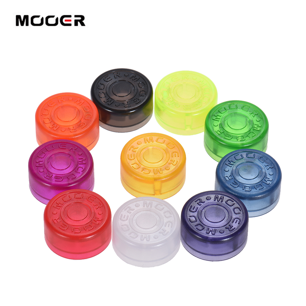 10x Footswitch Topper Random Color Plastic Bumpers For Guitar Effect Pedalyu