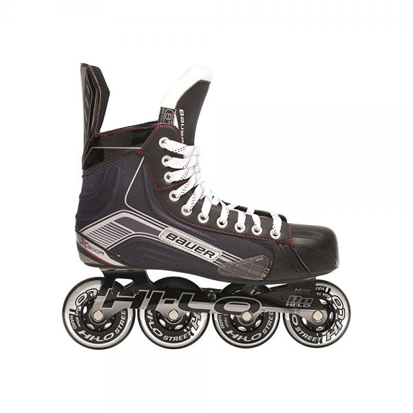 Bauer 1047269 Junior Vapor X300R Roller Hockey Skate, Black, Size 1 by