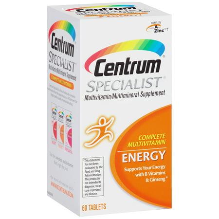 Centrum Specialist Energy Complete Multivitamin Supplement 60 Count