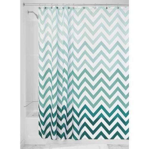 InterDesign Ombre Chevron Fabric Shower Curtain, Various Colors