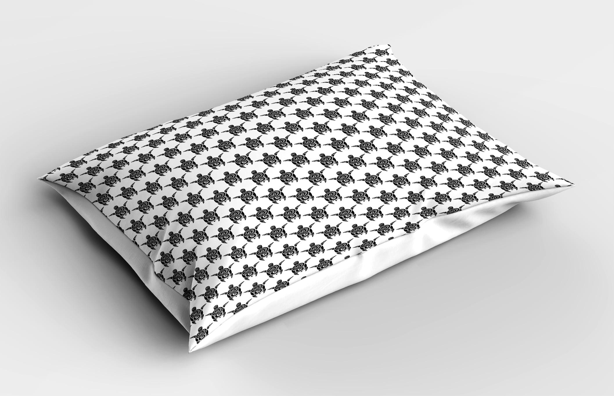 f7f45cc41f51d Tattoo Pillow Sham Pattern with Sea Turtles in Maori Style Ethnic  Polynesian Tribal Swirly Motifs, Decorative Standard Size Printed Pillowcase,  ...