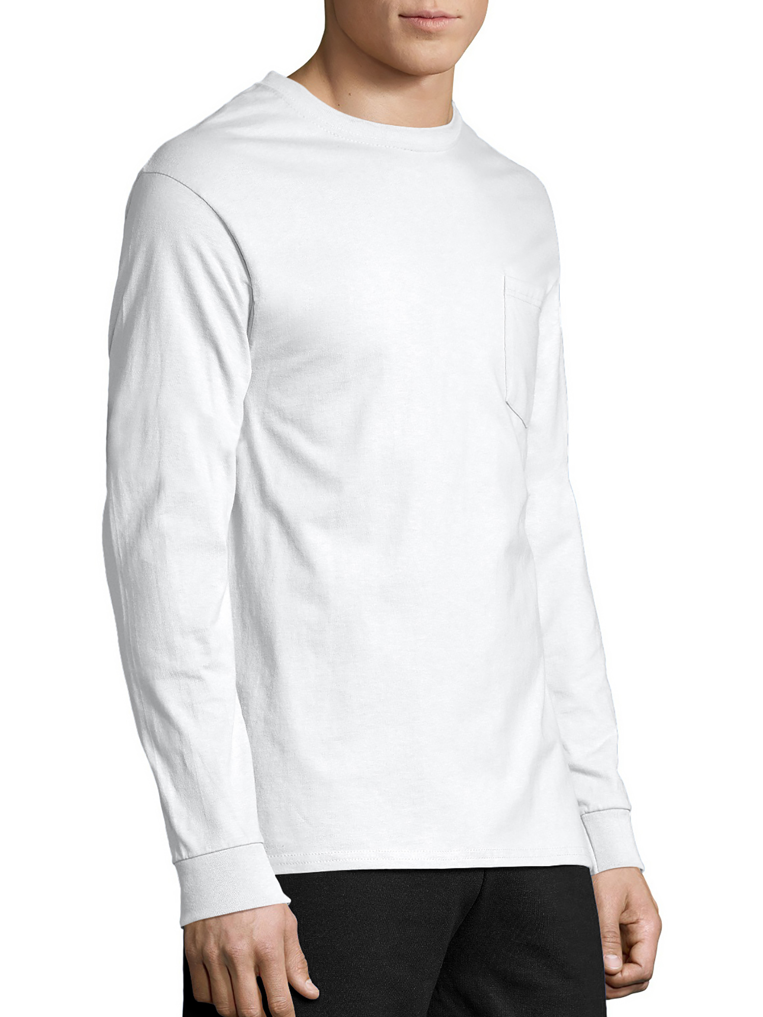 52f76d905f59 Hanes Mens Tagless long-sleeve T-shirt, 2 Pack Bundle for $12 - Walmart.com