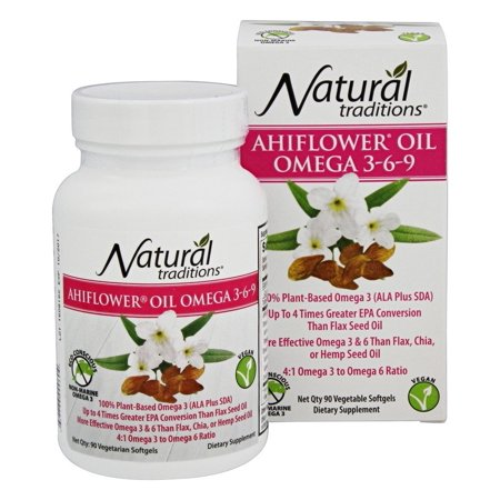 Natural traditions ahiflower oil omega 3 6 9 90 for Vegetarian fish oil