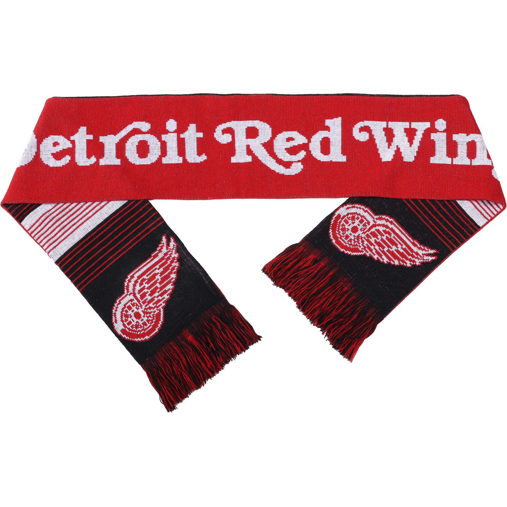 NHL Forever Collectibles Reversible Split Logo Scarf, Detroit Red Wings