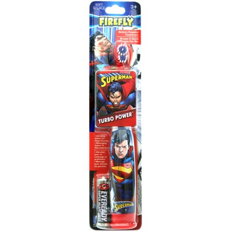 Whitening Powered Toothbrush - Firefly Superman Turbo Power Toothbrush, Soft