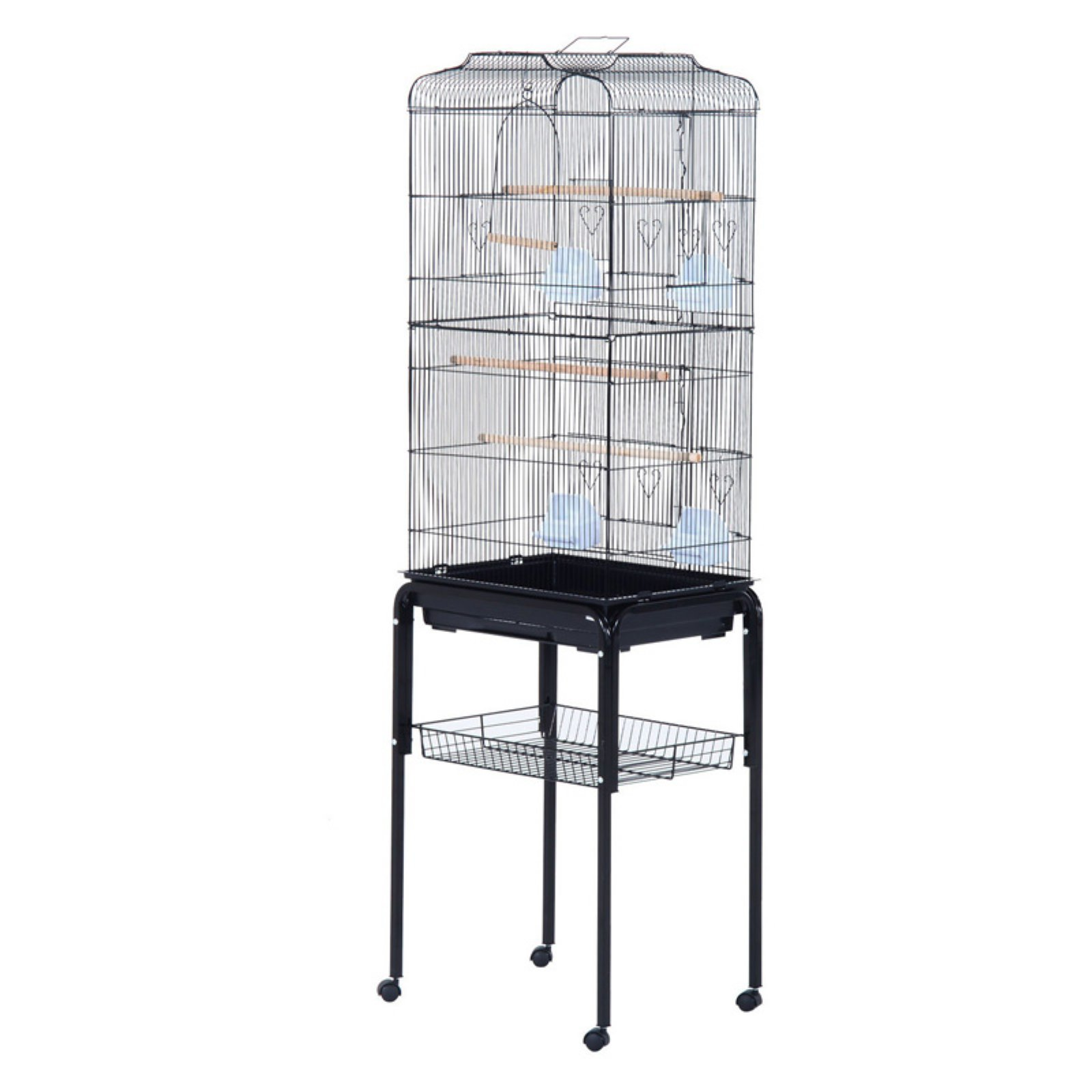 Pawhut 63 in. Bird Cage with Stand