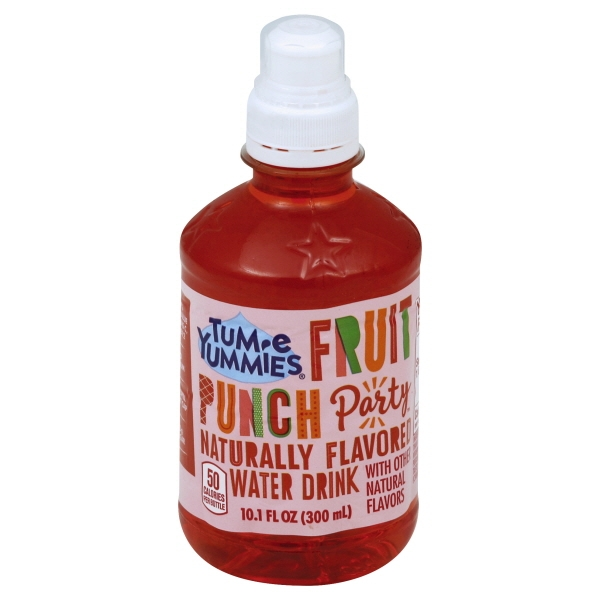Tum-E Yummie Fruit Naturally Flavored Fruit Punch Water Drink, 10.1 Fl. Oz.