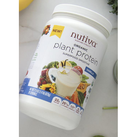 Nutiva Organic, non-GMO, Vegan, Gluten-free Plant Protein Superfood for Shakes and Smoothies, Vanilla Flavored, 21.9 (Best Smoothies For Pregnancy)