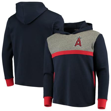 Los Angeles Angels Majestic Threads Colorblocked Pullover Hoodie - Navy/Red (Mlb Angels Sweatshirt)