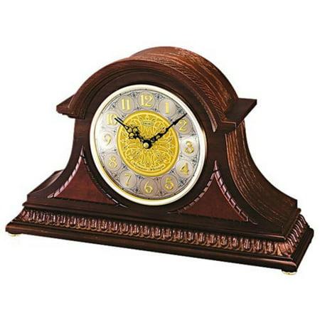 Seiko Marion Dark Oak Tambour Mantel Clock