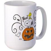 CafePress Peanuts Snoopy Sketch Pumpkin Large Mug 15 oz Ceramic Large Mug by