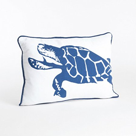 Nautical Ikat Design Cotton Down Filled Decorative Throw Pillow - Nautical Throw