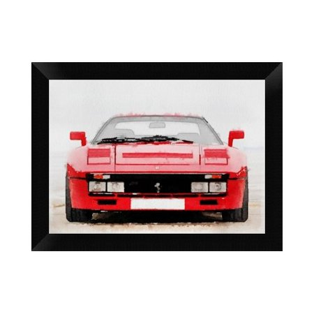 - Naxart '1980 Ferrari 288 GTO Front Watercolor' Framed Graphic Art Print on Canvas
