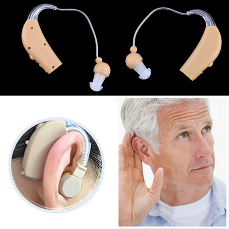 New Rechargeable Hearing Aids Personal Sound Voice Amplifier Behind The Ear