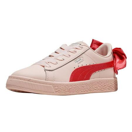 aa96068d59fa3f PUMA - PUMA Unisex-Kids Basket Bow Slip on Sneaker