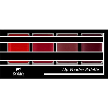 Kokie Professional Lip Poudre Lipstick Palette, Reds, 0.23 oz