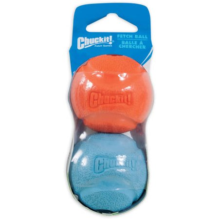 Chuckit! Fetch Ball Dog Toy, Small, Multicolor, 2 Count