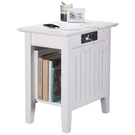 Pemberly Row Charger Chair Side Table in White - image 2 de 5