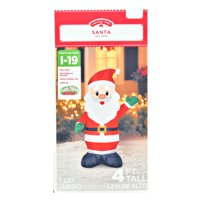 Holiday Time 4` Santa Inflatable by Gemmy Industries