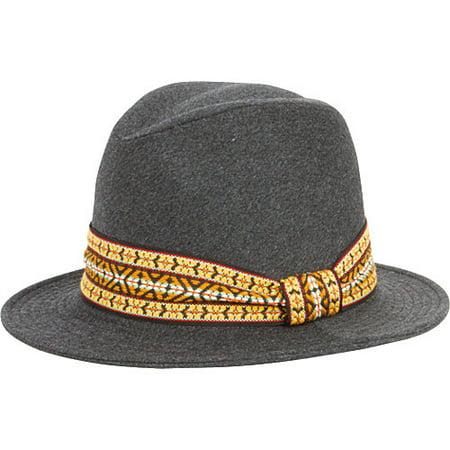 Women's San Diego Hat Company Felt Jacquard Band Fedora EBH9878