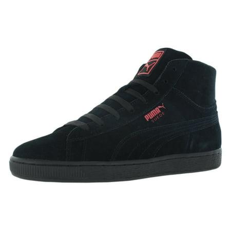 Puma Suede Mid Wog Men's (Black Pink Puma Shoes)