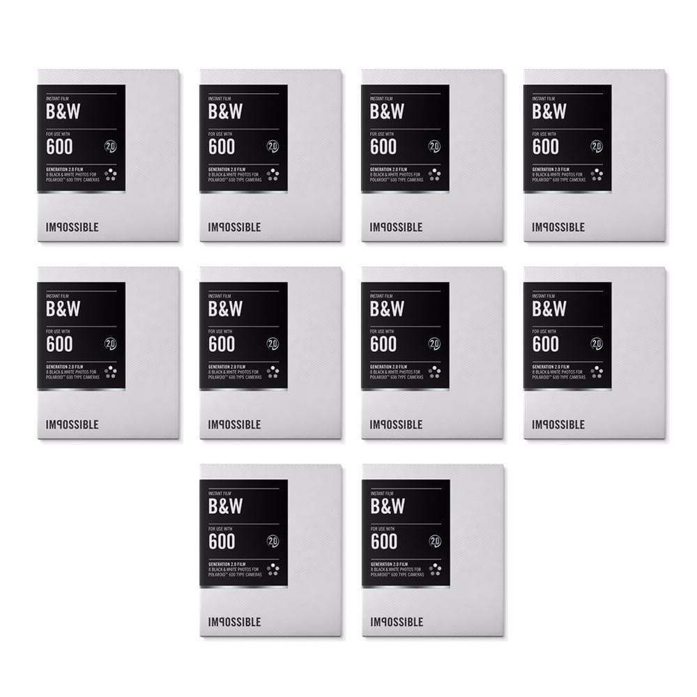 Impossible Instant Black & White 2.0 Film for Polaroid 60...