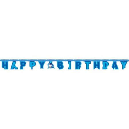 creative converting shark splash jointed happy birthday banner](Happy Birthday Shark)