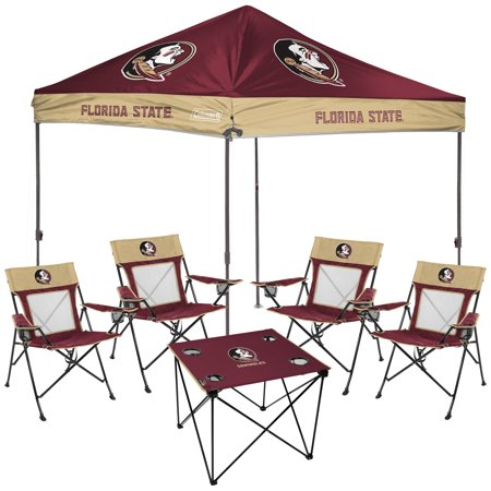Florida State Seminoles Rawlings Deluxe Tailgate Canopy Tent, Table, & Chairs Set - No -