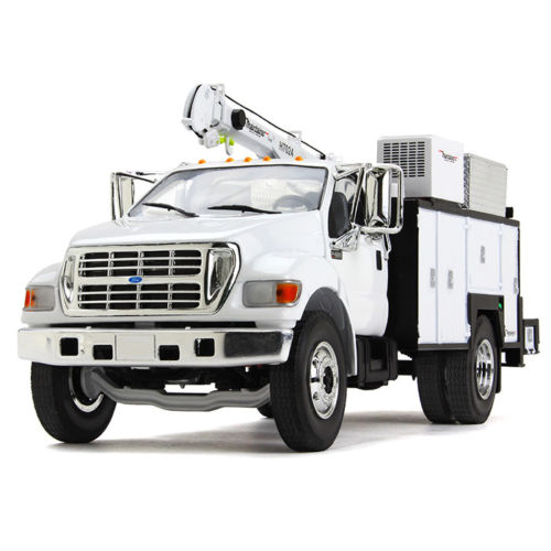 Ford F  With Maintainer Service Body White  Cast Model Car By