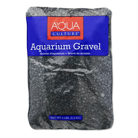 (2 Pack) Aqua Culture Aquarium Gravel, Black,