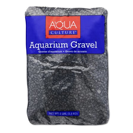 (2 Pack) Aqua Culture Aquarium Gravel, Black, 5-Pound
