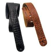 LM Products LS-204C-BR Crocodile Strap, Brown Multi-Colored