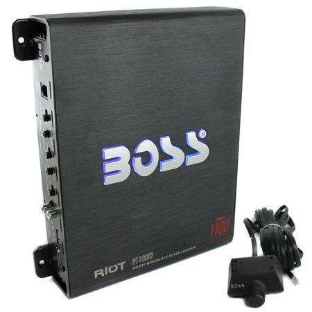 Boss Riot 1100W Monoblock Class A/B Car Amplifier And Sub Bass Remote | R1100M (Amplifier Car Orion Monoblock)