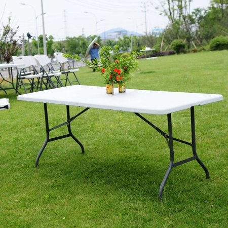 Folding Table Portable Plastic Indoor Outdoor Picnic Party Dining Camping Tables 6