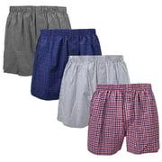 Falari 4-Pack Men's Boxer Underwear 100% Cotton