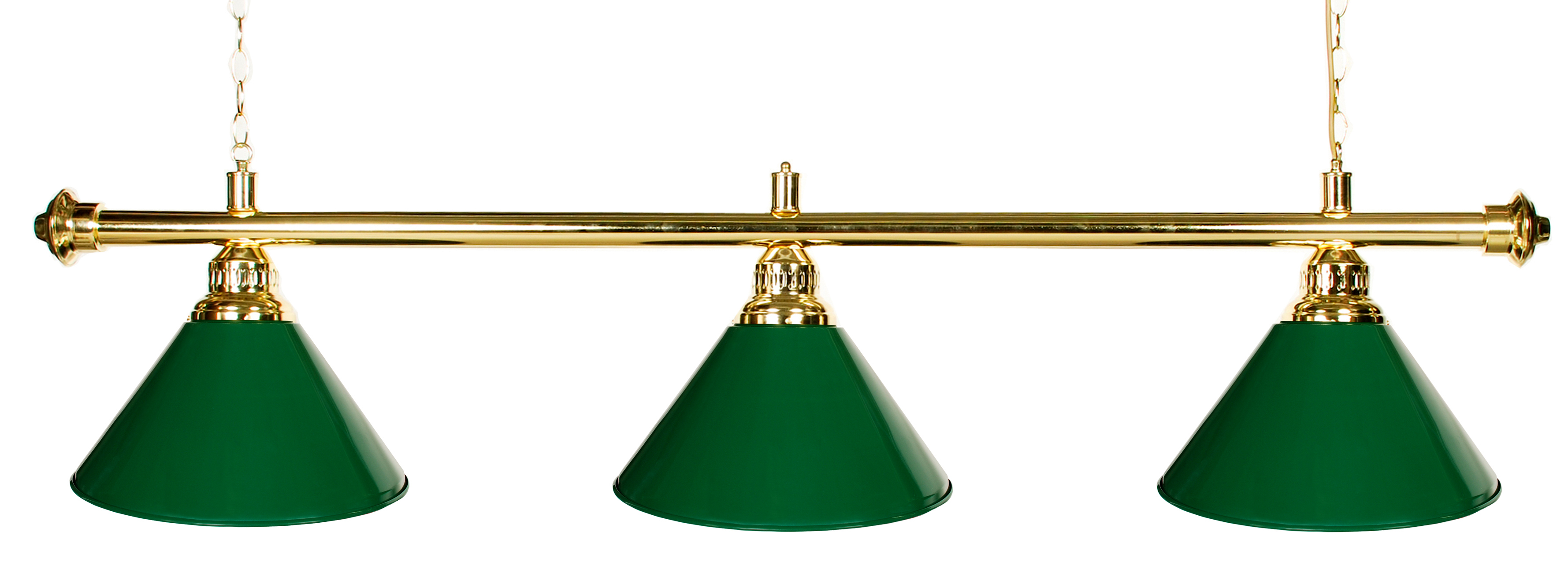"61"" Pool Table Light Pool Table Light With Metal Green Shades For 7 or 8' Table by"