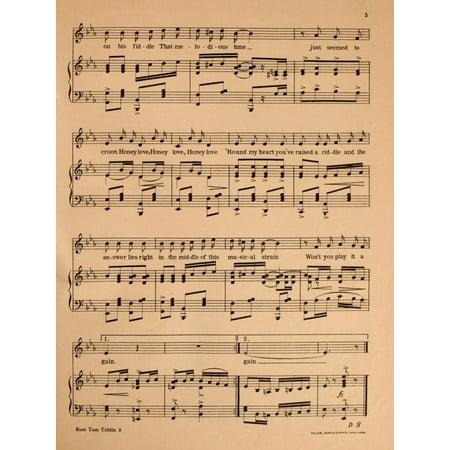 Madden & Schwartz Sheet Music 1907 Rum Tum Tiddle 3 Canvas Art - Madden & Schwartz (24 x 36) (Iron Maiden Sheet Music)