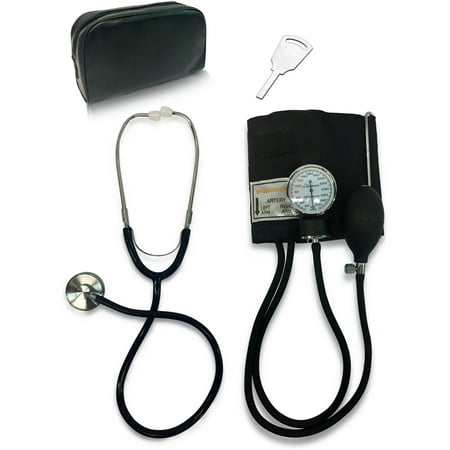 Primacare ET-9106 Classic Series Adult Blood Pressure Kit, Includes Sphygmomanometer with D-Ring Cuff and Stethoscope (Series 300 Pressure Balance)