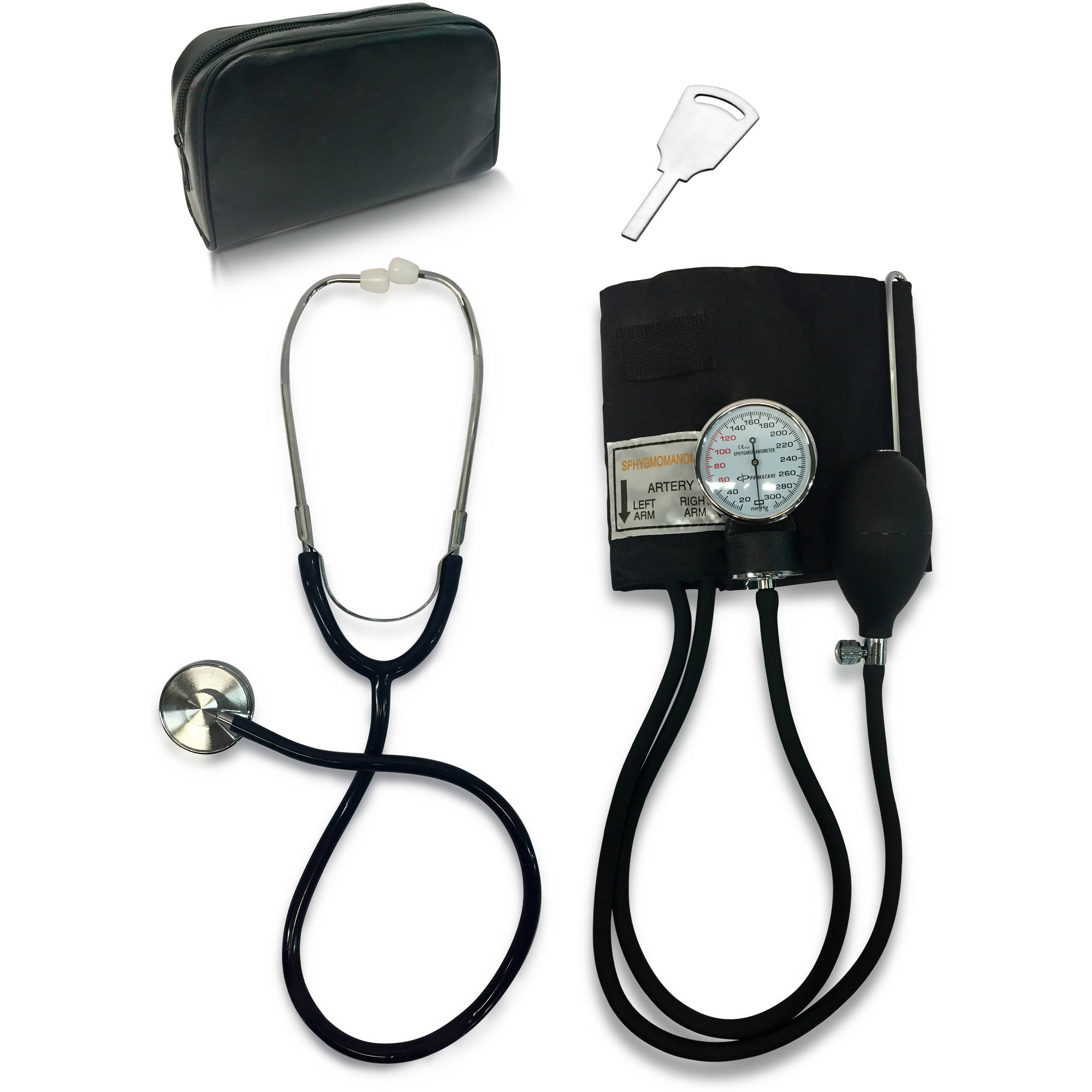 Primacare ET-9106 Classic Series Adult Blood Pressure Kit, Includes Sphygmomanometer with D-Ring Cuff and Stethoscope