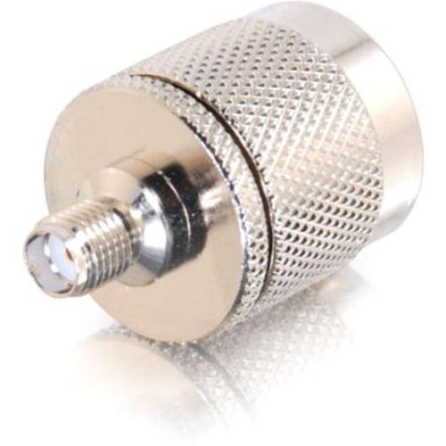 C2G 42204 C2G N-Male to SMA Female Wi-Fi Adapter - N-Type Male Antenna - SMA Female Antenna - Silver