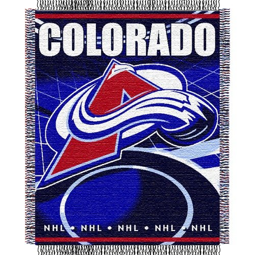 Northwest Co. NHL Triple Woven Jacquard Throw - Colorado Avalanche