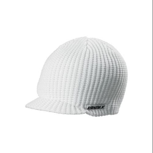 Castle X Racewear Beanie Hat Visor White